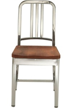 Delightful NewRetroDining.com : Navy Chair With Natural Wood Seat : Aluminum Chairs  Handmade From 80% Recycled Materials. Designed To Last For 150 Years.