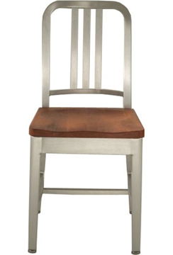 Genial NewRetroDining.com : Navy Chair With Natural Wood Seat : Aluminum Chairs  Handmade From 80% Recycled Materials. Designed To Last For 150 Years.