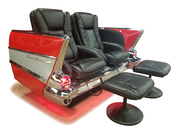 New Retro Cars : Restored Classic Car Couches, Sofas and Chairs ...