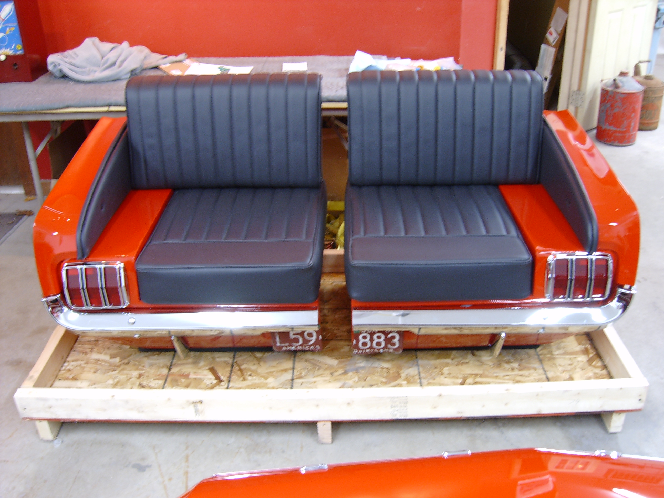 New retro cars restored classic car furniture and decor for Furniture made from cars
