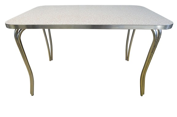 Retro Deco Table with Double Tube Pin Legs