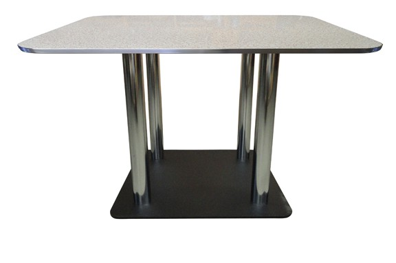 Retro Dining Table witha  C-30x30 - Four Column Base