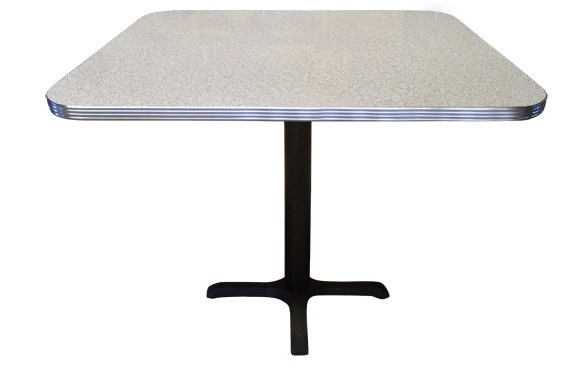 Retro Table with 1-1/4 inch Bright Grooved Aluminum Edge