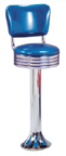 1700-782RB -New Retro Dining Revolving Grooved Ring Fountain Stool with Back and Tear Drop Base