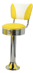 1700-782rbel - New Retro Dining Vintage Elite Fountain Stool with Back and Tear Drop Base
