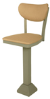Click Here for Information on the 1800-OX-40 Oxford Pedestal Base Return Swivel Banana Back Stool