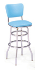 "215-921 - New Retro Dining 30"" Revolving Double Ring Barstool with Back"