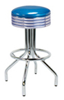 "250-782 - New Retro Dining 24"" or 30"" Revolving Spider Leg Barstool with Grooved Ring Seat"