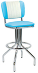 "250-921MB - New Retro Dining 24"" or 30"" Revolving Spider Leg Barstool with Malibu Style Back"