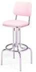 "264-530 - New Retro Dining 24"" or 30"" Revolving Single Ring Barstool with Back"
