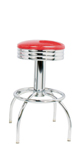 "300-49NS - New Retro Dining 24"" or 30"" Revolving Arch Leg Barstool with Scalloped Ring"