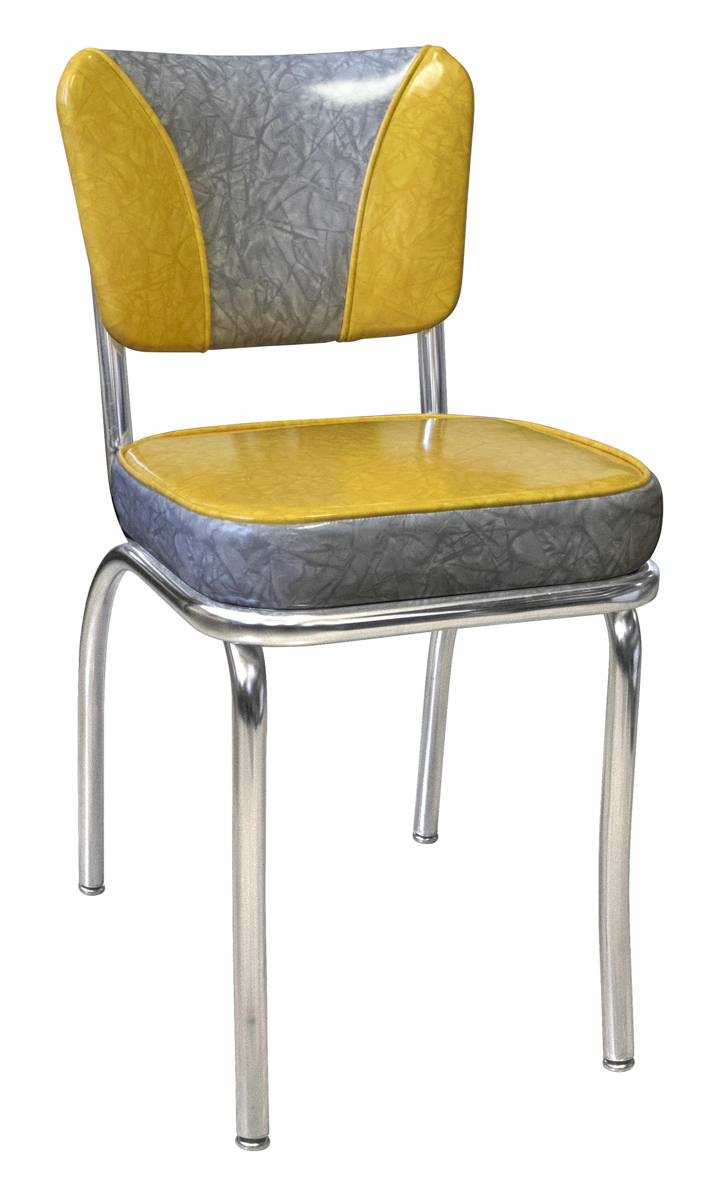 Retro Yellow Dining Chairs