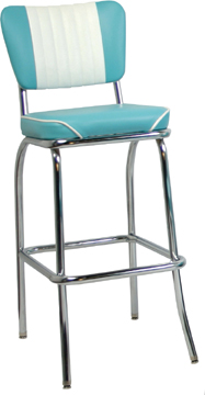 921 MBWF Malibu Back Waterfall Retro Bar Stool