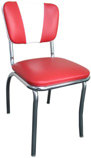 Red Chair921V   New Retro Dining V Back Diner Chair. Red Retro Diner Chairs. Home Design Ideas