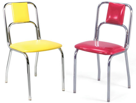 934 Red and Yellow Diner Chair934   New Retro Dining Small Curved Back Diner Chair. Red Retro Diner Chairs. Home Design Ideas