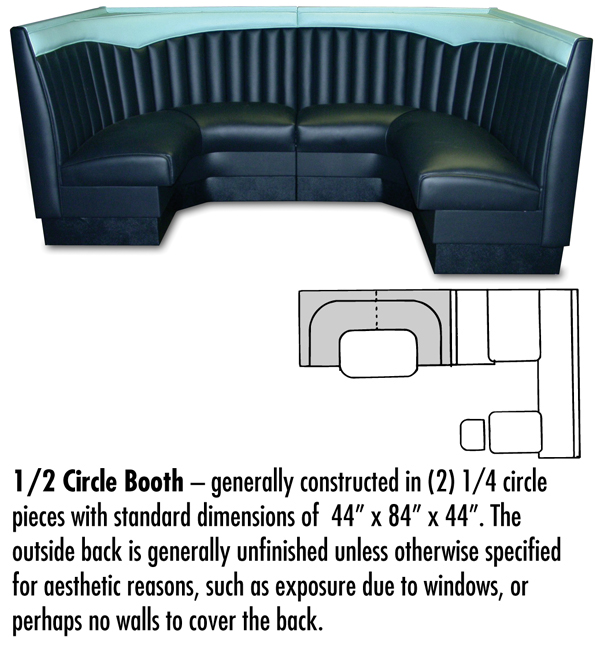 1/2 Circle Booth Configuration