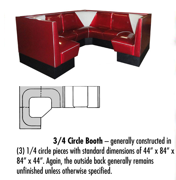 New Retro Dining - 3/4 Circle Booth Configuration