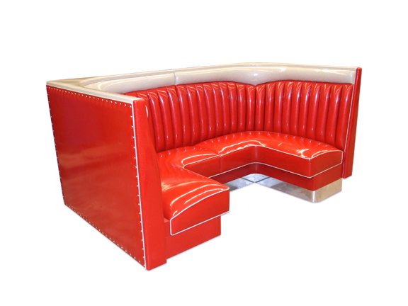 Chevy Half Circle Booth, 36' Ht. Polaris Red Planet Vinyl