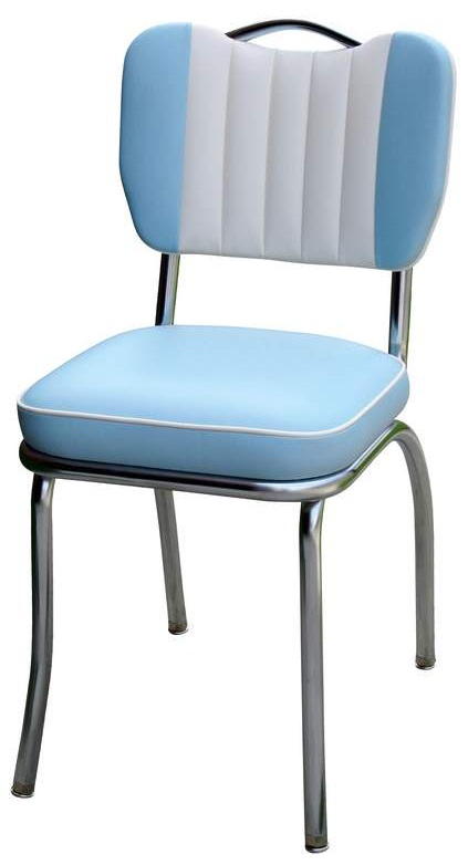 Diner chair t handle back with contrasting