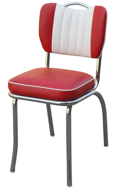 Diner Chair 4260t Handle Back Chair With Contrasting Channels Retro Diner Chair Retro