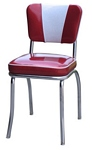 "4120-4220 Heavy Duty (14 AWG) Retro Diner Chair - Dual Tone ""V"" Back"