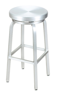 "HPN-1150 Aluminum 30"" Backless Stool with a Clear Coat Finish"