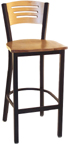 Click Here for Information on the LSC-1575 Legends Three slotted Wood Back Stool