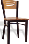 LSC-575 - Legends Metal Wood (3) Slotted Back Chair Chair