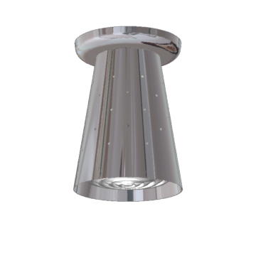 LH-17 Space Age Ceiling Flush Mount Fixture - Polished Chrome