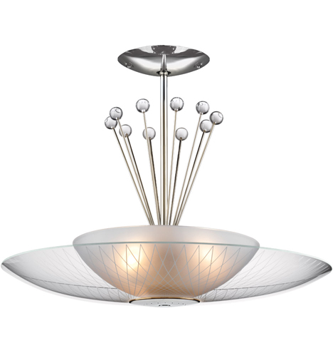 Click on Image for Large view of the LH-21 Retro Space Age Pendant Fixture -Etched Glasss