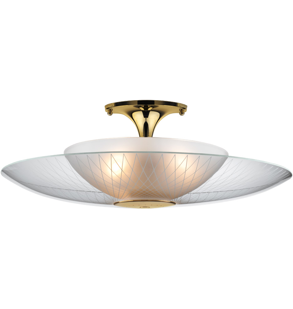 Lh 22 New Retro Dining Space Age Semi Flush Mount Light