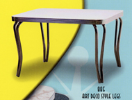 Retro Table with 885 Double Tube Deco Legs