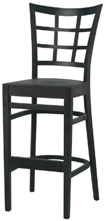WLS-1200-BS New Retro Dining Woodland Lattice back Bar Stool.