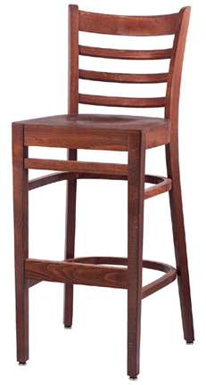 WLS-1300-BS New Retro Dining Woodland Ladder back Bar Stool.
