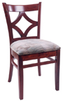 WLS-130 New Retro Dining Woodland Diamond Back Chair..