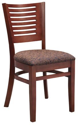 WLS-145 New Retro Dining Woodland Horizontal 6 Dining Chair.