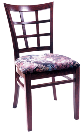 WLS-200 Woodland Latticeback Dining Chair with upholstry.