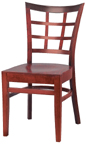 WLS-200 - Lattice Back Wood Chair