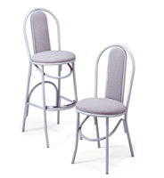 X-54BS/X-54 - Parlor Upholstered Hairpin Stool & Chair