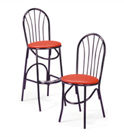 X-55BS/X-55 - Parlor Fanback Stool & Chair