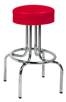 264-125 Upholstered Ring Seat Retro Stool