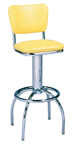 "300-921 - New Retro Dining 24"" or 30"" Revolving Arch Leg Barstool with Back"