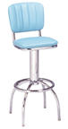 "300-939CB - New Retro Dining 24"" or 30"" Revolving Arch Leg Barstool with Tuffed Back"