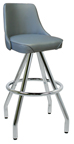 "400-242WF - New Retro Dining 30"" Revolving Pyramid Base with a 2"" Waterfall Bucket Seat Barstool."