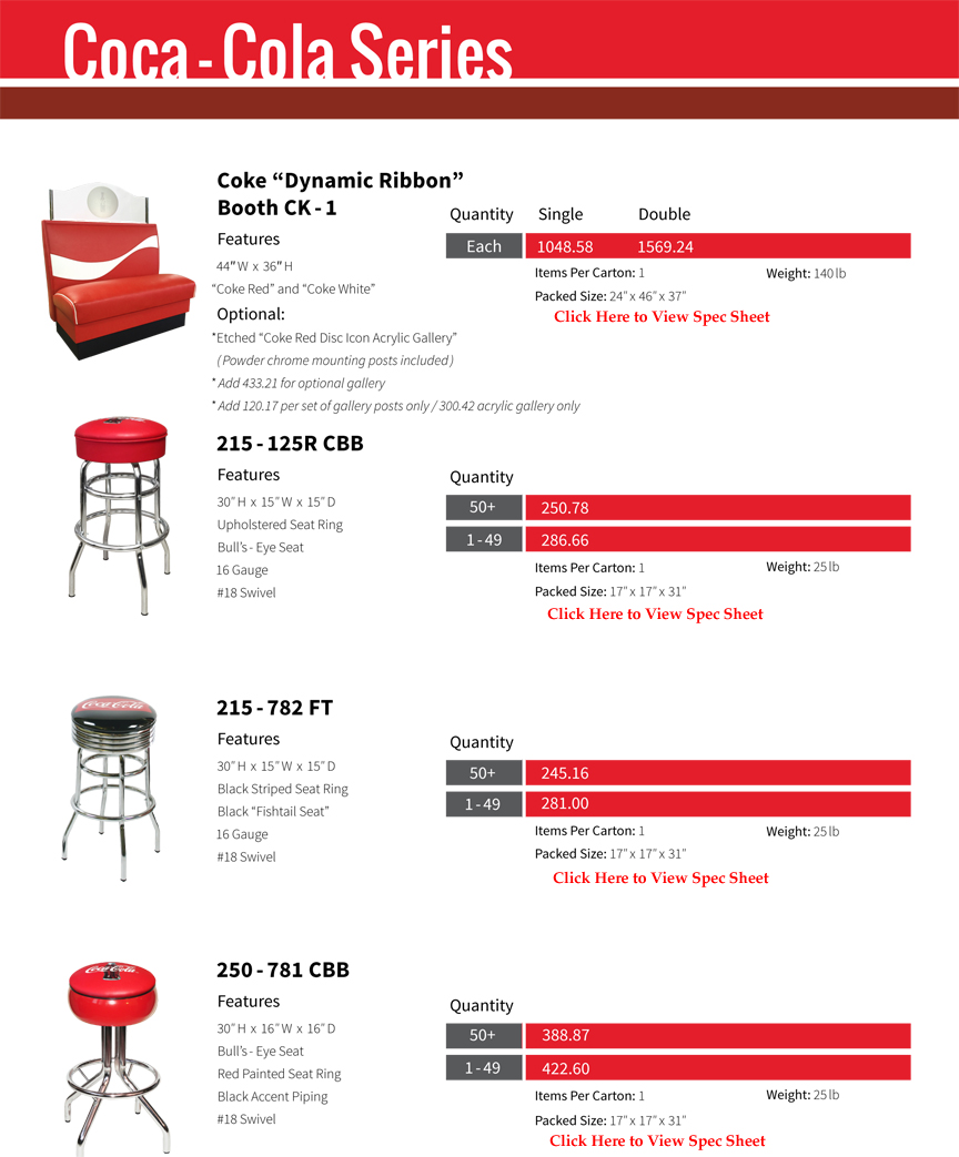 Coca Cola Furniture Page 1