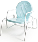 new retro metal single glider turquoise bellaire lawn chair patio furniture